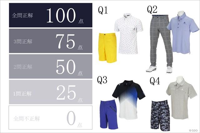 全4問 不正解のショーツorパンツに合うポロシャツを厳選(森岡氏セレクト)