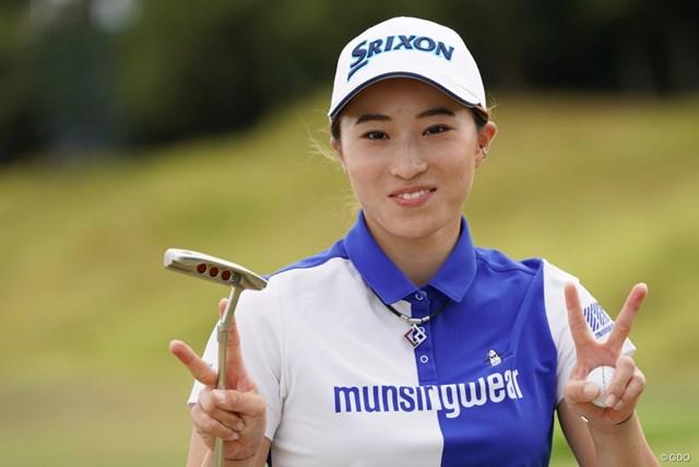2020年 日本女子プロゴルフ選手権大会コニカミノルタ杯 最終日 澁澤莉絵留 ありがとうだって、うれしいね~
