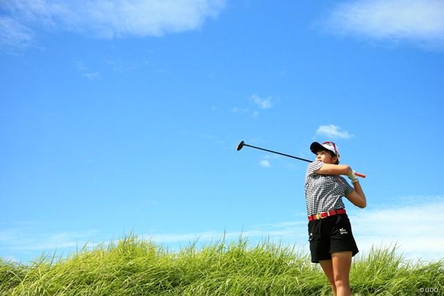 2020年 日本女子プロゴルフ選手権大会コニカミノルタ杯 最終日 田辺ひかり 奇麗な青空の下で