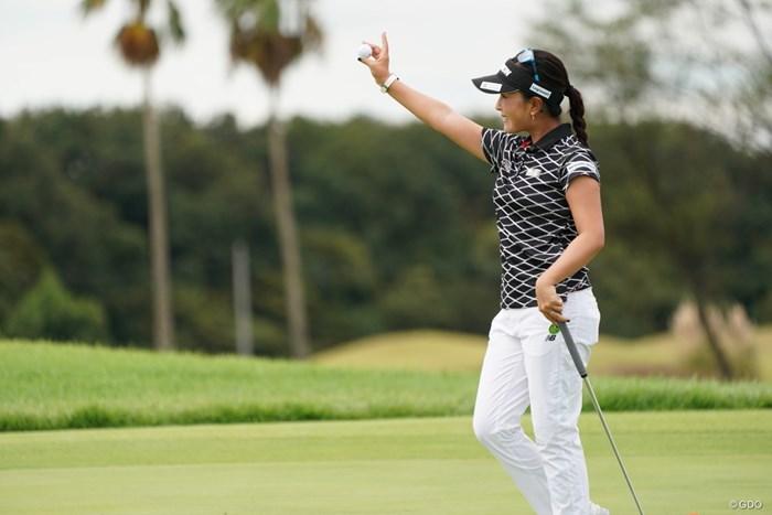 やった~ 2020年 日本女子プロゴルフ選手権大会コニカミノルタ杯 最終日 青木瀬令奈