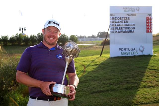 2020年 ポルトガルマスターズ 最終日 ジョージ・クッツェー クッツェーが勝利。リーダーボードには川村の名前も(Andrew Redington/Getty Images)