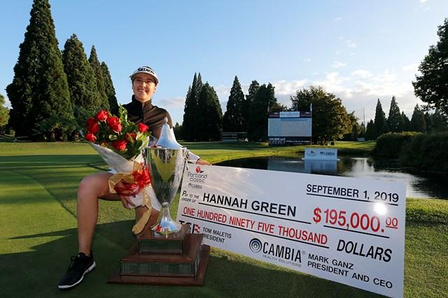 2019年 キャンビア ポートランドクラシック 最終日 ハンナ・グリーン 前年大会はハンナ・グリーンがツアー2勝目を挙げた(Jonathan Ferrey/Getty Images)