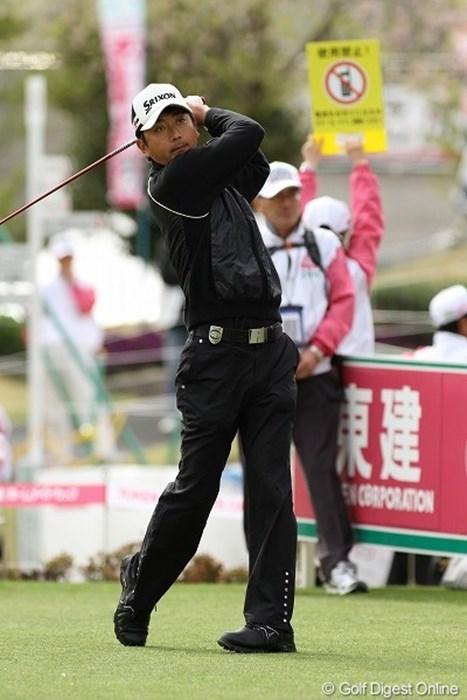ファイナルQT2位の資格で出場の冨山聡、首位タイ2アンダーにはびっくり!? 冨山聡/東建ホームメイトカップ初日