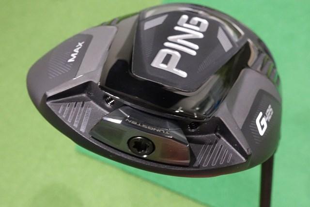 新製品レポート ピン G425 MAX ドライバー ソール後方のウェイト位置を変えることで弾道調整が可能