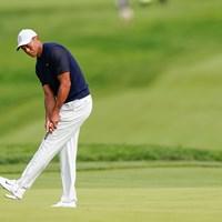 ウッズはグリーン上で表情豊かなスタートに(Darren Carroll/USGA) 2021年 全米オープン 初日 タイガー・ウッズ