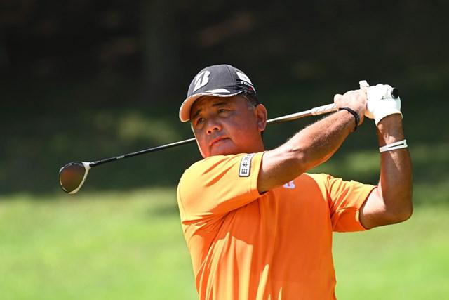 2020年 日本シニアオープンゴルフ選手権競技  3日目 寺西明 3日間首位を守る寺西明。地元でビッグタイトルに挑む(代表撮影:西本政明)