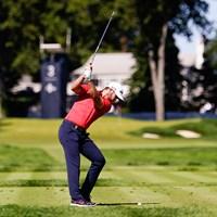 ムービングデーに「65」をマークしたウルフがメジャー初制覇へ(Darren Carroll/USGA) 2021年 全米オープン 3日目 マシュー・ウルフ