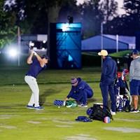 デシャンボーの居残り練習(Darren Carroll/USGA) 2021年 全米オープン 3日目 ブライソン・デシャンボー