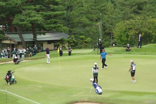 2020年 日本シニアオープンゴルフ選手権競技 最終日 寺西明 18番はガードバンカーに入れてボギーフィニッシュ。それでも後続に5打差をつける完勝だった
