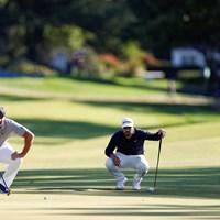 最終組対決(Simon Bruty/USGA) 2021年 全米オープン 最終日 ブライソン・デシャンボー マシュー・ウルフ