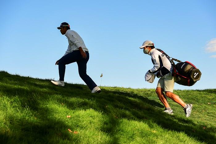 全米オープン最終日は苦しい展開となった松山。世界ランクは19位へひとつ下がった(Robert Beck/USGA) 2021年 全米オープン 4日目 松山英樹