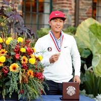 ローアマチュアを獲得したジョン・パク(John Mummert/USGA) 2021年 全米オープン 4日目 ジョン・パク