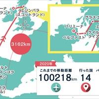 ポルトガルでの旅の後、スコットランドを経由してフェリーで北アイルランドへ 2020年 ドバイデューティーフリー アイルランドオープン 事前 川村昌弘マップ