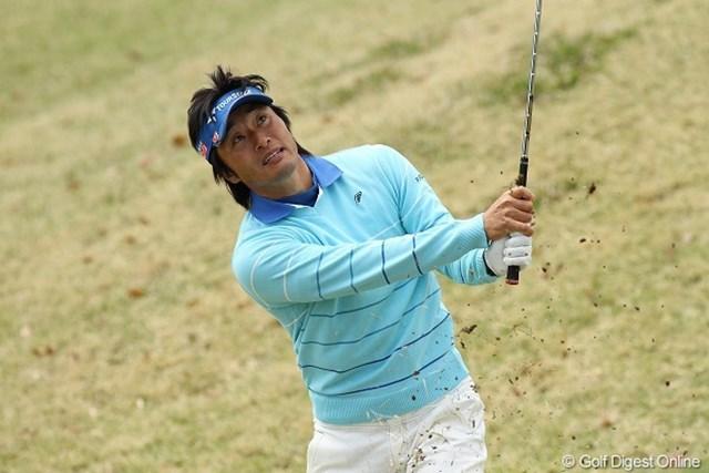 上田と同じく76を叩き、8位タイに後退した宮本勝昌