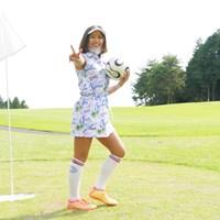 タレントのあおい夏海さんもフットゴルフに挑戦中! あおい夏海/高橋陽一カップ2020