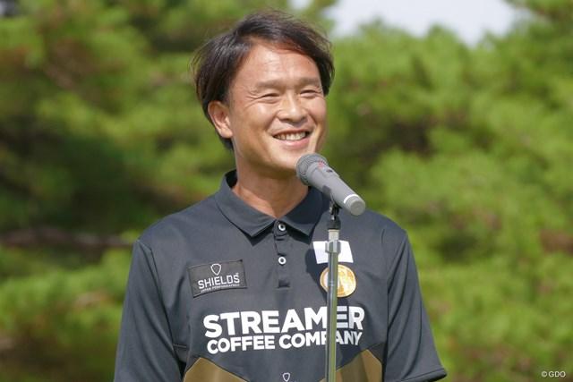 日本フットゴルフ協会の松浦会長。「あなたも日本代表になれます!」