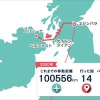 北アイルランドからスコットランドへ。フェリーで海を渡りました 2020年 ASIスコットランドオープン 事前 川村昌弘マップ