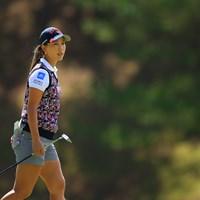 マレット型のパターを手にした上田桃子 2020年 日本女子オープンゴルフ選手権 初日 上田桃子