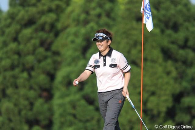 天沼知恵子/西陣レディスクラシック2日目 5バーディ、5ボギーと慌しいゴルフだが4位タイで踏ん張る天沼知恵子