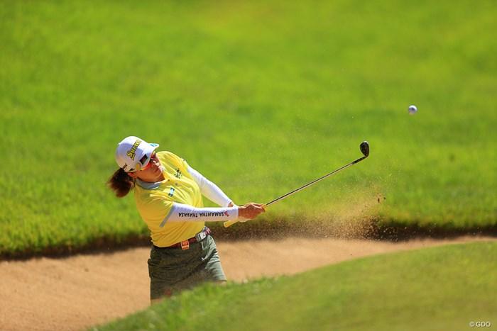 HOLE9   3打目 バンカーショット 2020年 日本女子オープンゴルフ選手権 初日 勝みなみ