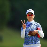 ねっ。カメラマンっていいでしょ? 2020年 日本女子オープンゴルフ選手権 初日 三ヶ島かな