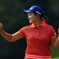 前半9ホールのゴルフに好感触を示した鈴木愛。残り36ホールで7打差を追う 2020年 日本女子オープンゴルフ選手権 2日目 鈴木愛
