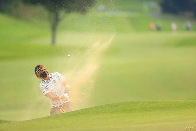 2020年 日本女子オープンゴルフ選手権 3日目 穴井詩 マスクはいろんな意味で役に立つ
