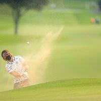 マスクはいろんな意味で役に立つ 2020年 日本女子オープンゴルフ選手権 3日目 穴井詩