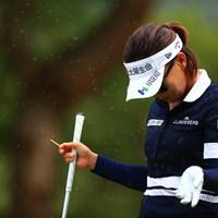見えます?虫の多さに顔があげられない 2020年 日本女子オープンゴルフ選手権 3日目 テレサ・ルー