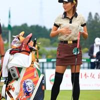 このキャディバック、、、かっこいい 2020年 日本女子オープンゴルフ選手権 最終日 金田久美子