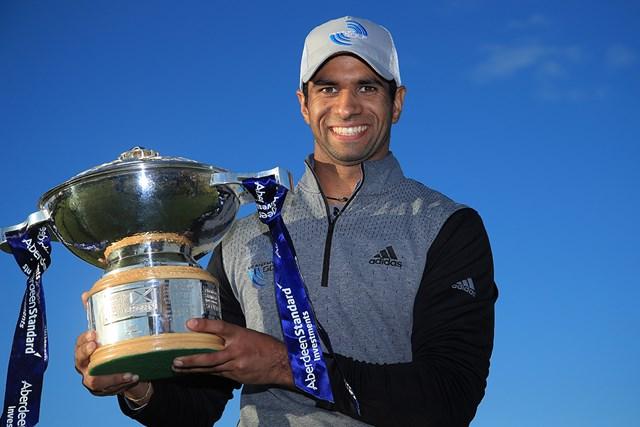 2020年 ASIスコットランドオープン 4日目 アーロン・ライ アーロン・ライがツアー2勝目(Andrew Redington/Getty Images)
