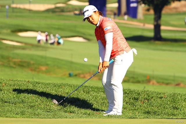 2020年 KPMG全米女子プロゴルフ選手権 事前 畑岡奈紗 メジャー初制覇へコースをチェックする畑岡奈紗