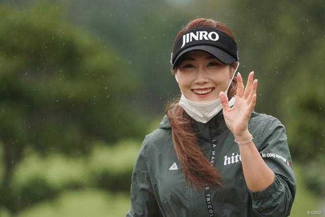 2020年 スタンレーレディスゴルフトーナメント 事前 キム・ハヌル キム・ハヌルは約1年ぶりの日本。笑顔はちゃんとマスクを下げて