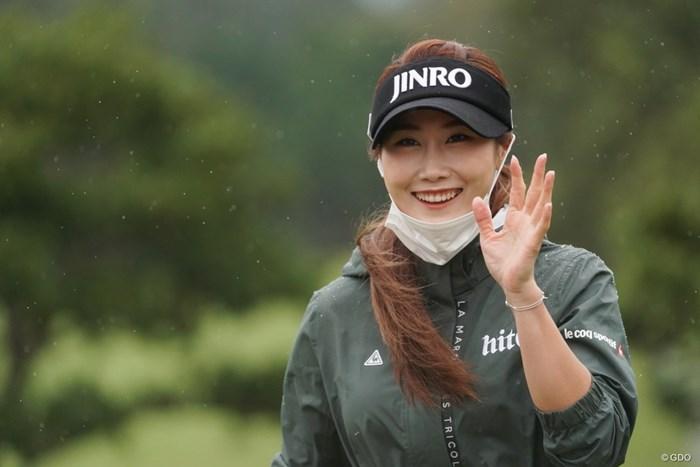 キム・ハヌルは約1年ぶりの日本。笑顔はちゃんとマスクを下げて 2020年 スタンレーレディスゴルフトーナメント 事前 キム・ハヌル