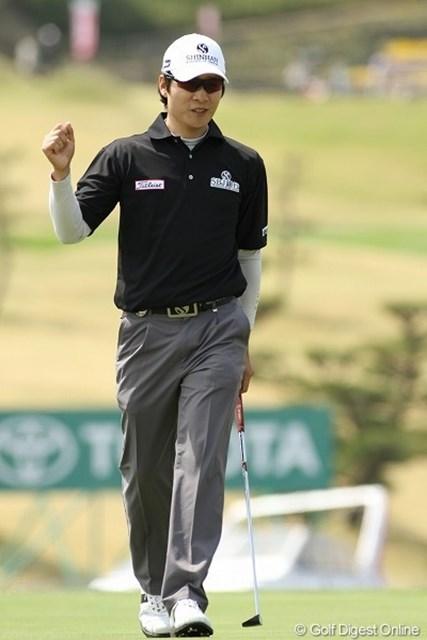 キム・キョンテー/東建ホームメイトカップ最終日 17、18を連続バーディで4位タイまで上がって来たキム・キョンテー
