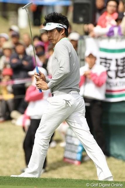 J.チョイ/東建ホームメイトカップ最終日 この人も韓国人選手。しかし国籍はアメリカだそうです。6位タイに入ったJ.チョイ