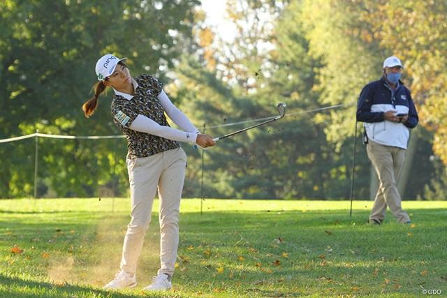 2020年 KPMG全米女子プロゴルフ選手権 2日目 渋野日向子 3Wで右に曲げた13番。内心の怒りはすさまじかったという
