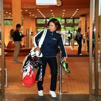 練習場直行かな 2020年 スタンレーレディスゴルフトーナメント 2日目 岡山絵里