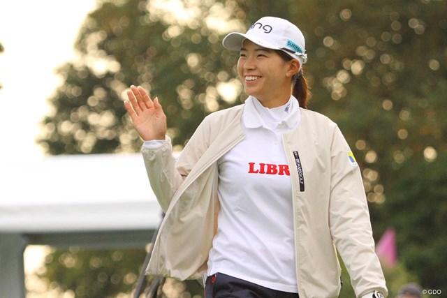 2020年 KPMG全米女子プロゴルフ選手権 3日目 渋野日向子 笑顔を見せる渋野日向子