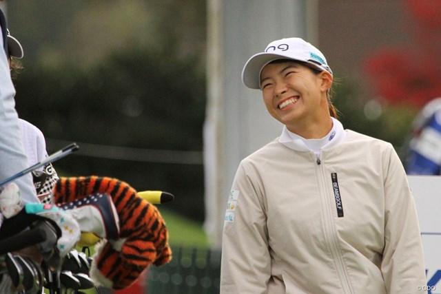 2020年 KPMG全米女子プロゴルフ選手権 3日目 渋野日向子 スタート前は笑顔だったが…