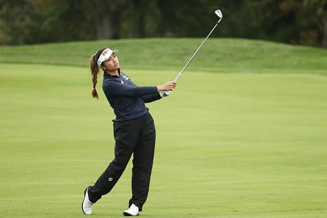 2020年 KPMG全米女子プロゴルフ選手権 3日目 ビアンカ・パグダンガナン 新人のビアンカ・パグダンガナンが5位に浮上。残り18ホールで逆転優勝を狙う(Andy Lyons/PGA of America/Getty Images)