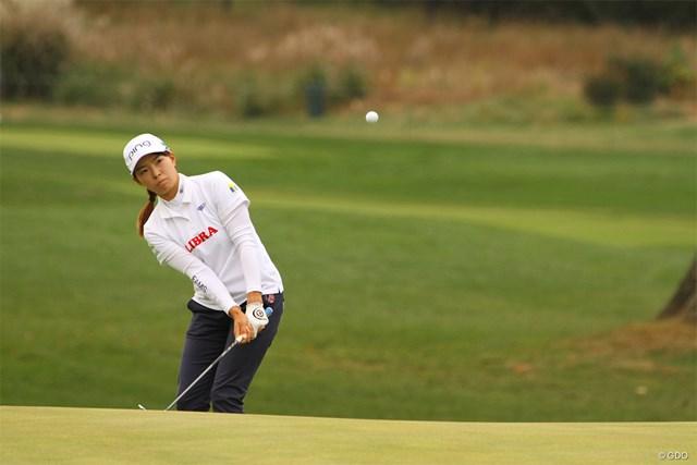 2020年 KPMG全米女子プロゴルフ選手権 3日目 渋野日向子 この日の最終9番はきっちり寄せたが、バーディパットを決められなかった