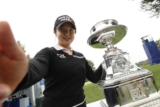 2020年 KPMG全米女子プロゴルフ選手権 4日目 キム・セヨン キム・セヨンが圧倒劇でメジャー初制覇(Patrick Smith/Getty Images)