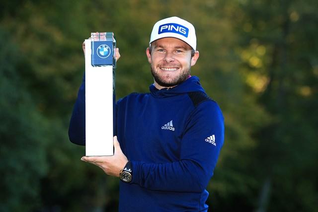 2020年 BMW PGA選手権 最終日 ティレル・ハットン 逃げ切りでツアー5勝目を挙げたティレル・ハットン(Andrew RedingtonGetty Images)