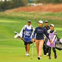 渋野日向子は優勝者が決まった直後の18番グリーンへ向かった 2020年 KPMG全米女子プロゴルフ選手権 4日目 渋野日向子