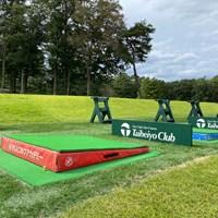 PGAアカデミーではこの傾斜台を使って練習をする(提供:PGAアカデミー) PGAゴルフアカデミー太平洋クラブ益子