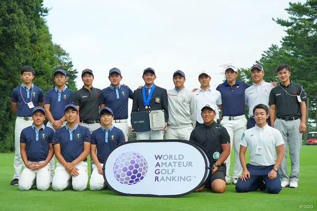 2020年 日本オープンゴルフ選手権競技 事前 記念写真 祝福してくれた仲間達と記念写真。