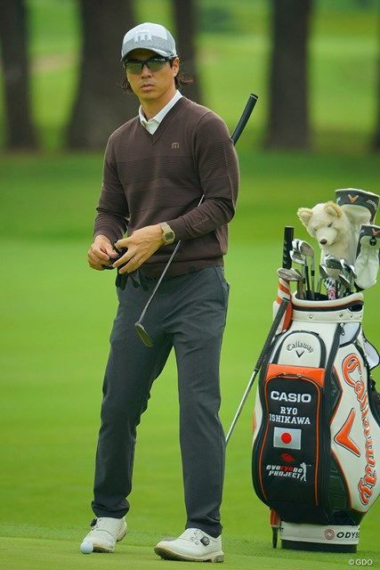 2020年 日本オープンゴルフ選手権競技 事前 石川遼 大人色のウェアが似合うなぁ。