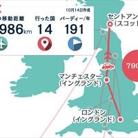 今週はロンドンからマンチェスターで寄り道してセントアンドリュースへ 2020年 スコティッシュ選手権 事前 川村昌弘マップ