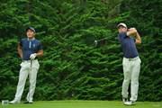2020年 日本オープンゴルフ選手権競技 事前 金谷拓実 中島啓太